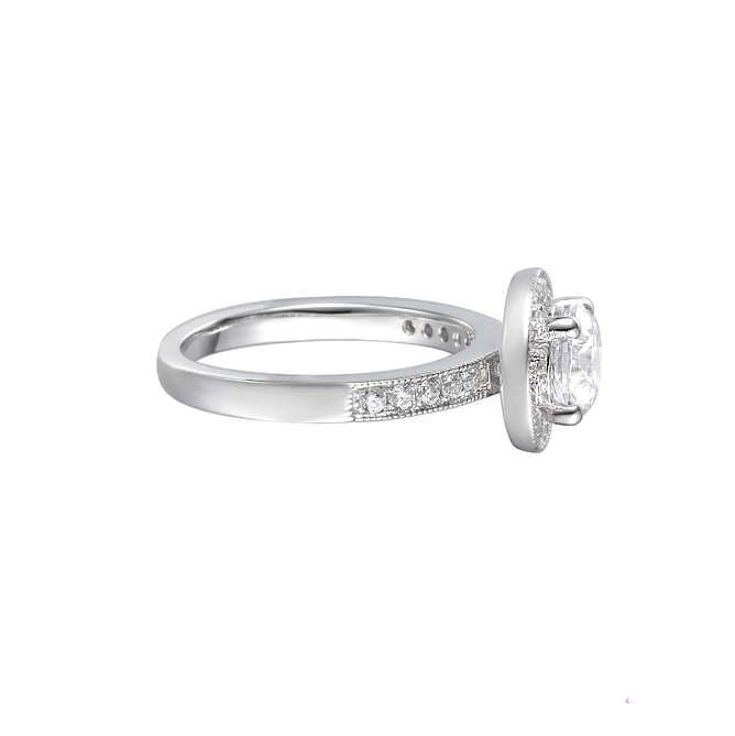 Amore Ice Fire CZ Sterling Silver Ring 9154 side