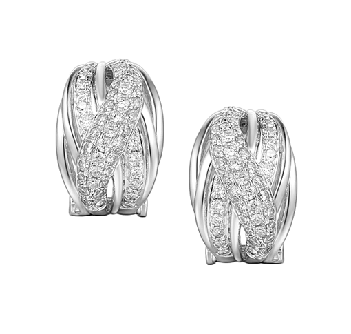 Amore Argento Hollywood Clip On Earrings 9160