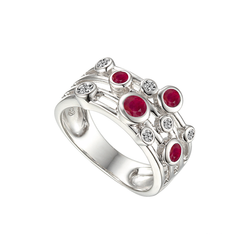 Fanasize Ruby Ring by Amore CZ & Sterling Silver 9234