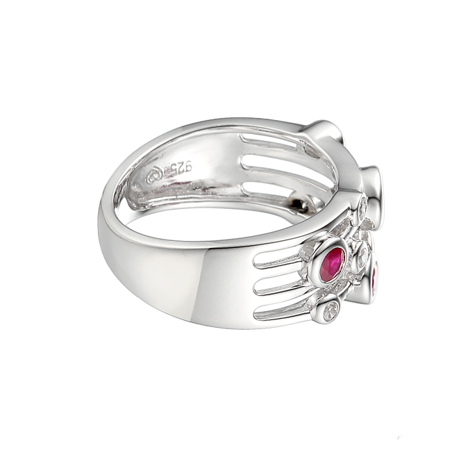 Fanasize Ruby Ring by Amore CZ & Sterling Silver 9234 side