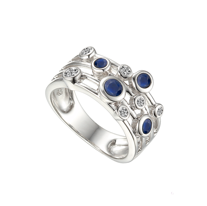 Fanasize Sapphire Ring by Amore CZ & Sterling Silver 9234