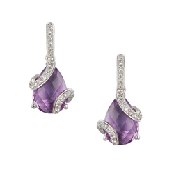 Amore Argento Spiral Amethyst Earrings 9268
