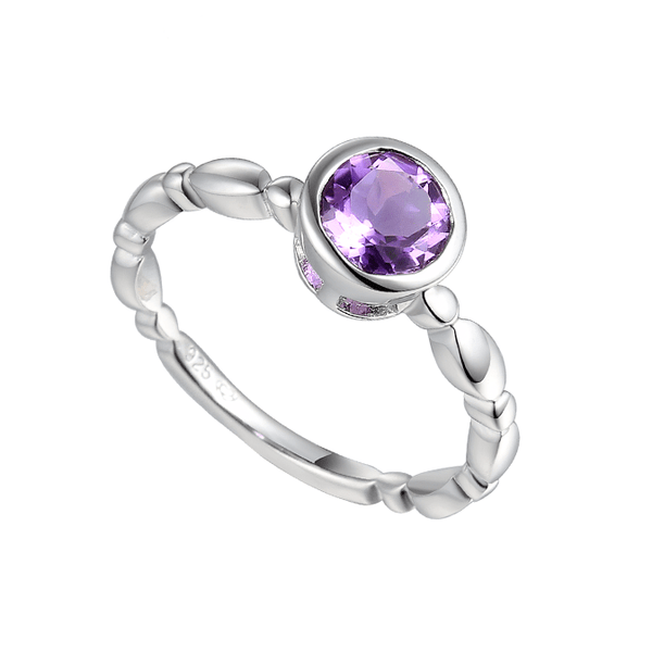 Timeless Amethyst Sterling Silver Ring by Amore