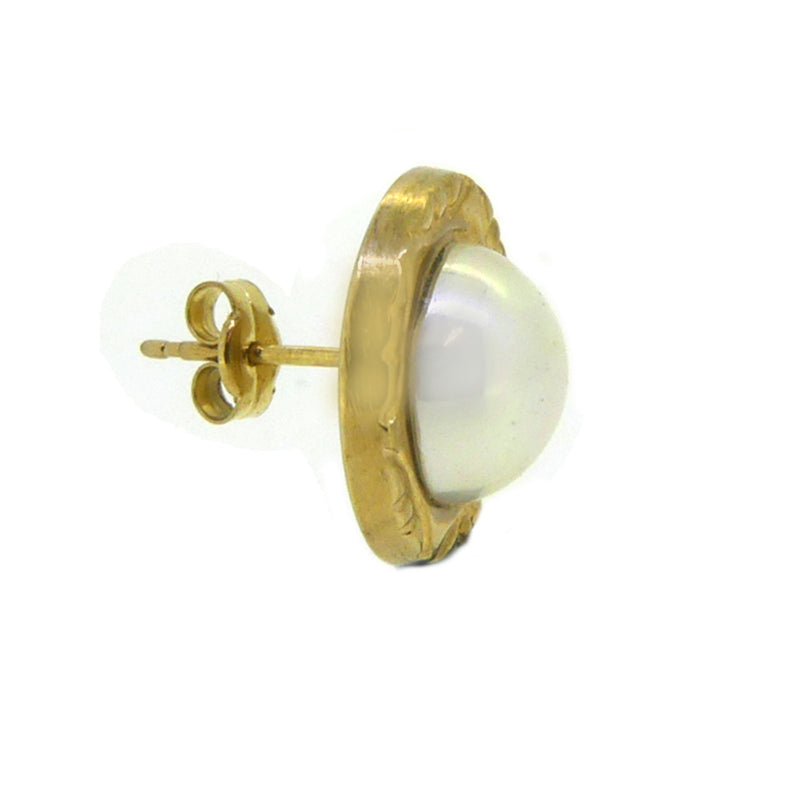 10mm Fresh Water Cultured Pearl 9ct Gold Surround Earring 9E05111 side