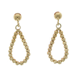 9ct Yellow Gold Bead Drop Earrings