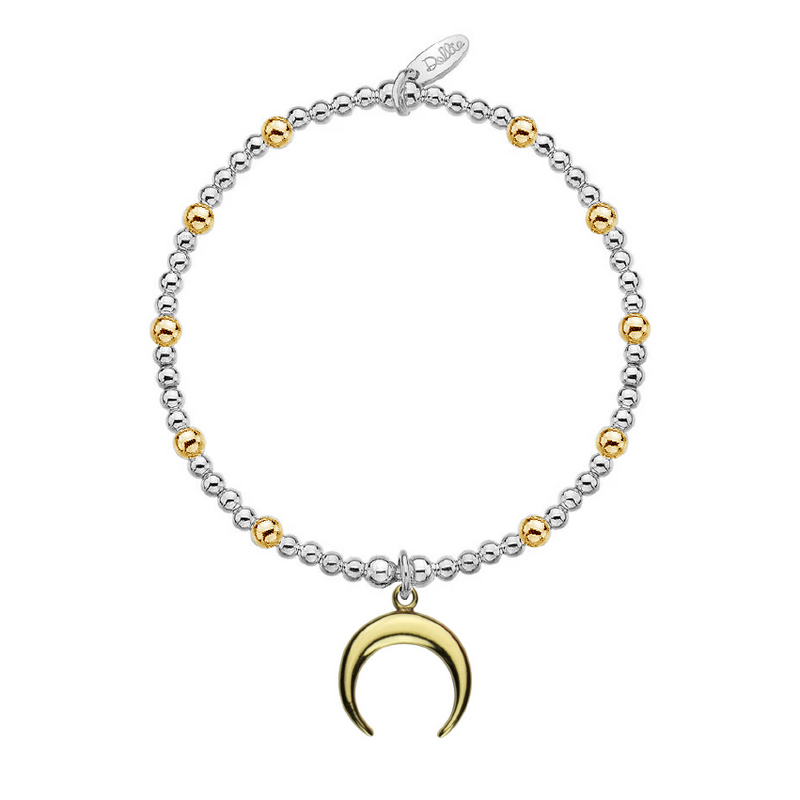 Golden Crescent Moon Bracelet by Dollie B0159