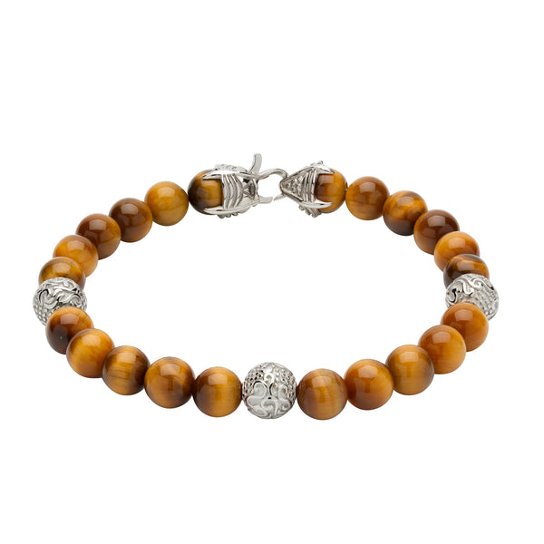 Unique & Co Mens Tiger Eye Bracelet B384YE