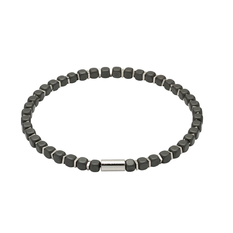 Unique & Co Mens Hematite Bracelet B386BL
