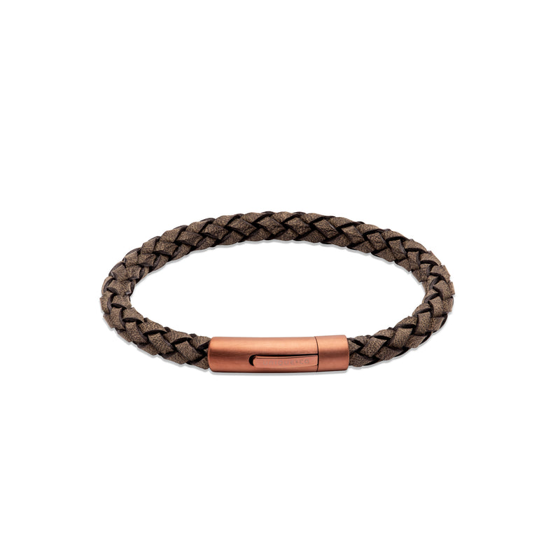 Unique & Co Mens Leather Bracelet B452ABL