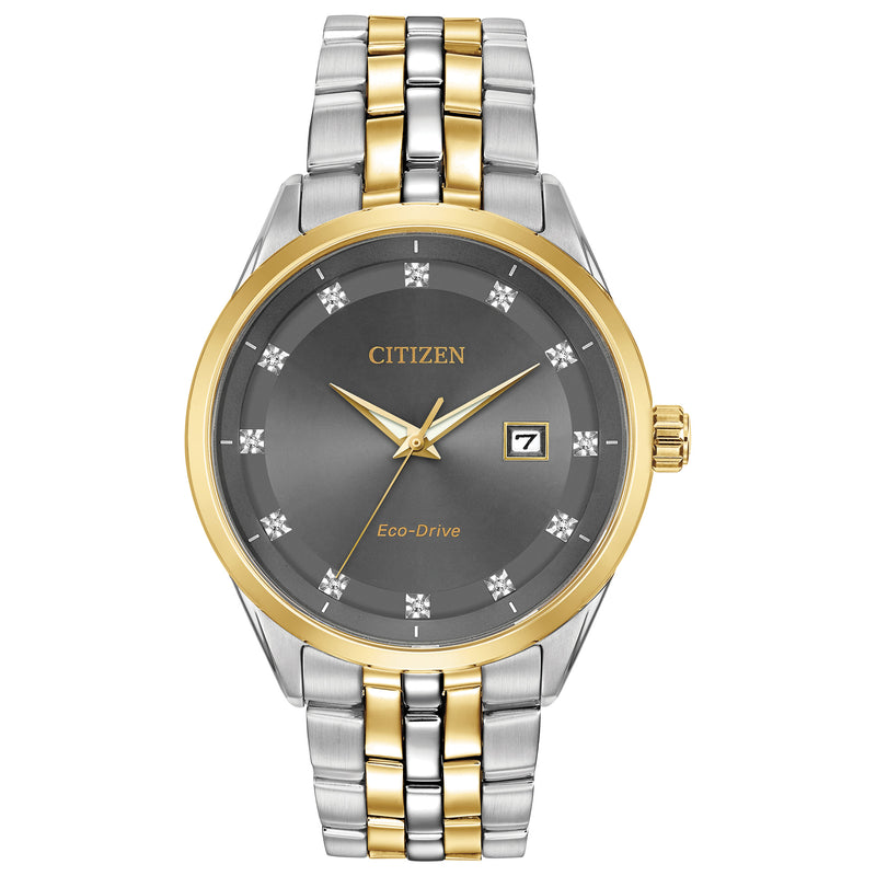 Citizen Eco Drive Men's Diamond Dial Watch BM7258-54H