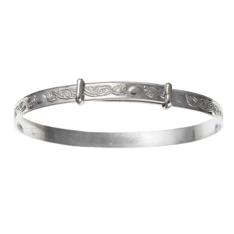 Sterling Silver Engraved Expanding Childs Bangle BN53407