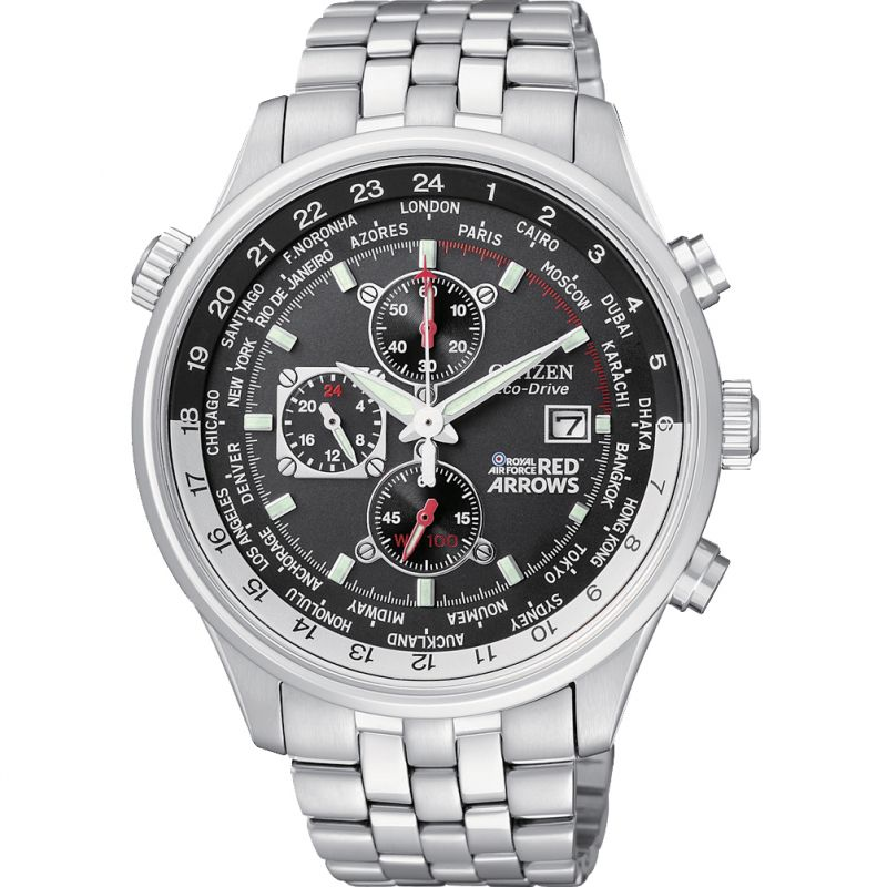 Citizen Eco Drive Mens Red Arrows Chronograph CA0080-54E