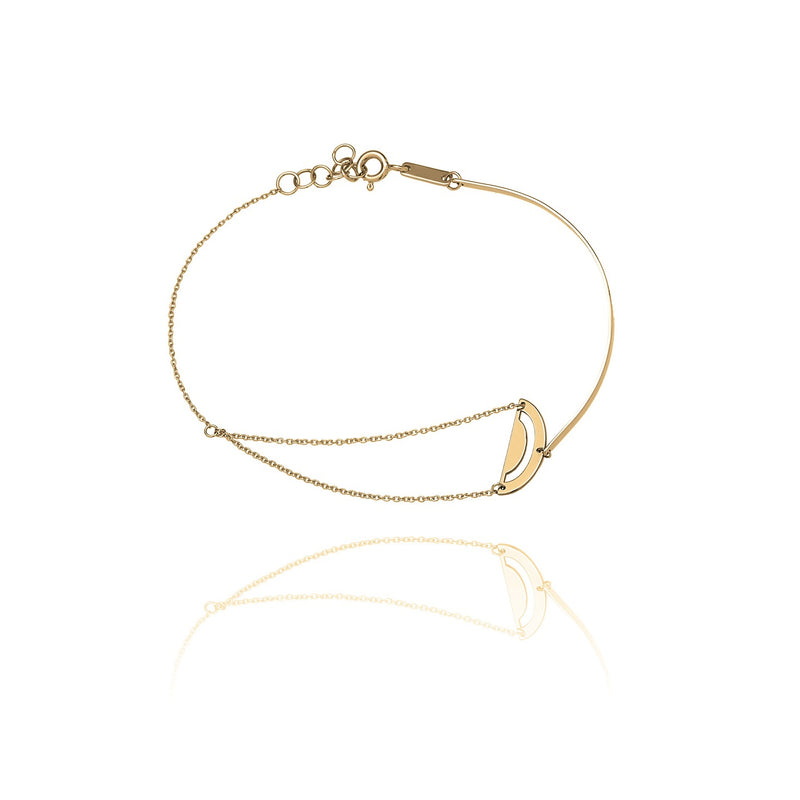 Unique & Co Gold Semi Circle Bracelet DBR-12
