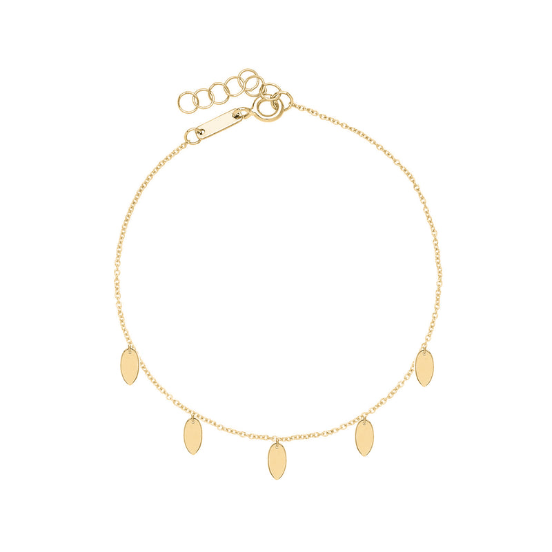 Unique & Co Gold Oval Discs Bracelet DBR-16