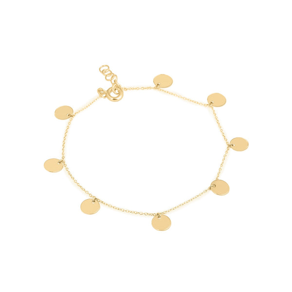 Unique & Co Gold Discs Bracelet DBR-17