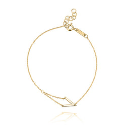 Unique & Co Gold V Bracelet DBR-24
