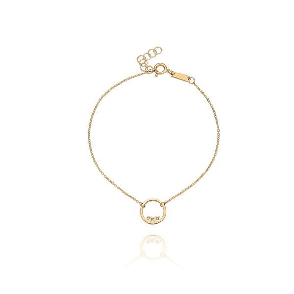 Unique & Co Gold CZ Circle Bracelet DBR-8