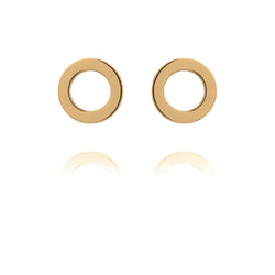 Unique & Co Gold Flat Open Circle Earrings DE-3