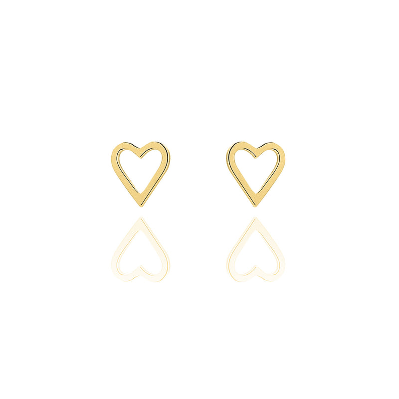 Unique & Co Gold Heart Earrings DE-6