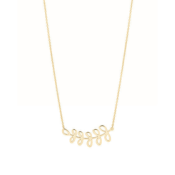 Unique & Co Gold Fern Necklace DK-10