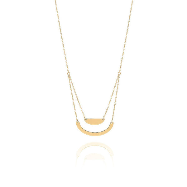 Unique & Co Gold Semi Circular Necklace DK-12