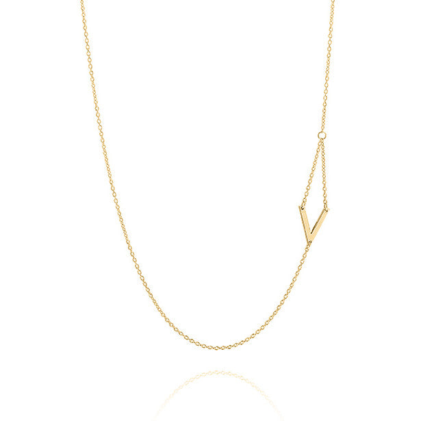 Unique & Co Gold V Necklace DK-24