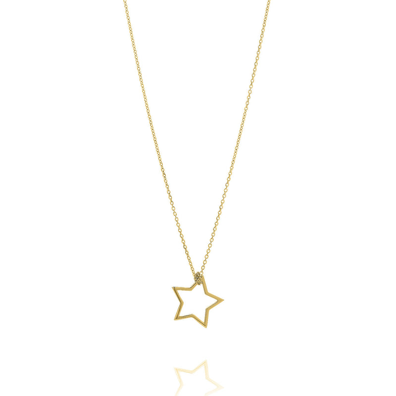 Unique & Co Gold Star Necklace DK-26