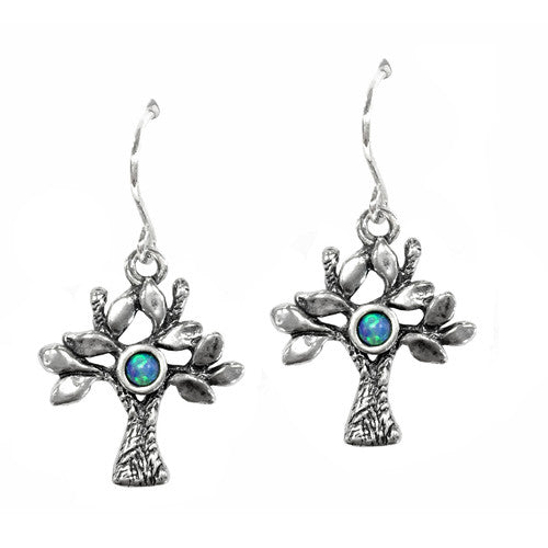 Aviv Silver Tree of Life Earrings E03205