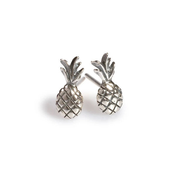Henryka Pineapple Stud Earrings in Silver