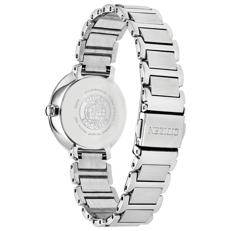 Citizen Ladies Eco Drive Silhouette Crystal Watch EM0480-52N back