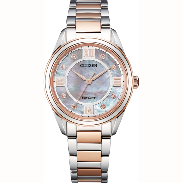Citizen Ladies Eco Drive Silhouette Diamond Watch EM0876-51D