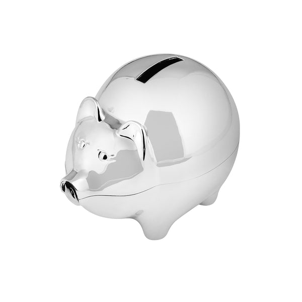 Silver Plated Piggy Bank Money Box 2841