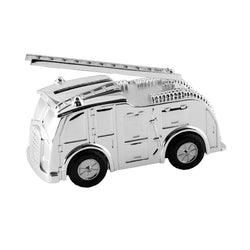 Silver Plated Fire Engine Money Box 2860