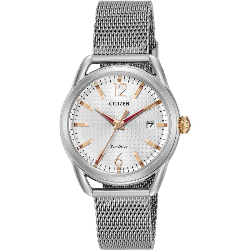 Citizen Eco Drive Ladies Milanese Bracelet Watch FE6081-51A