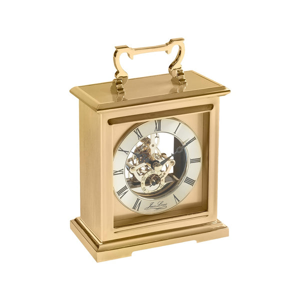 Woodford Quartz Carriage Clock Skeleton Dial