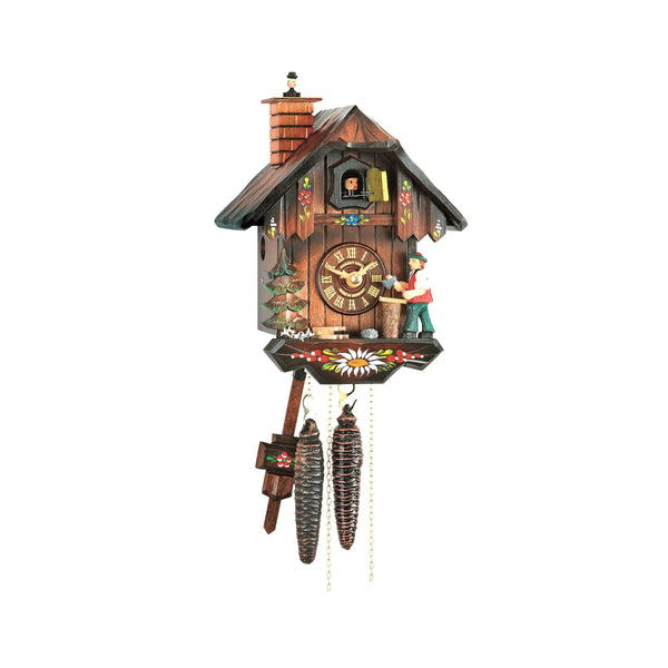 Hubert Herr Black Forest Cuckoo Clock with Woodchopper 65/22