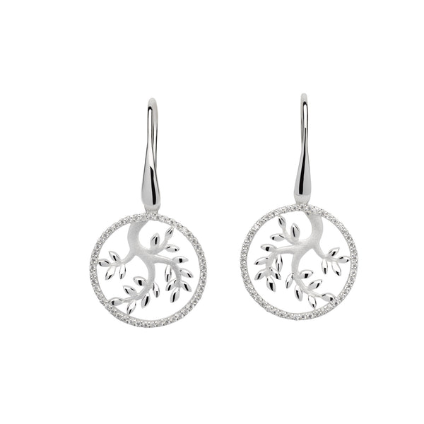 Unique & Co Sterling Silver Drop Earrings  ME-595
