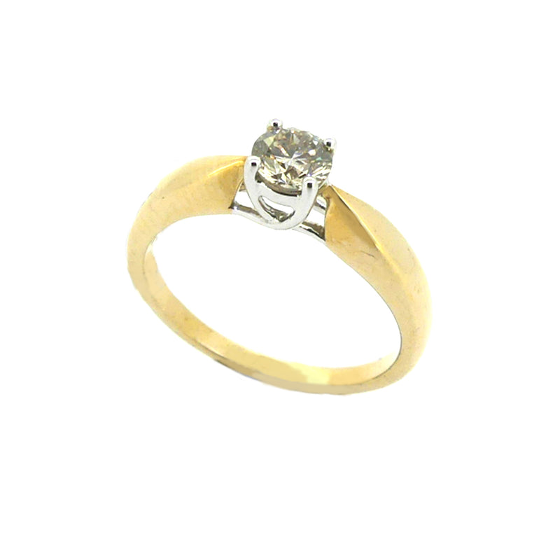 Solitaire 0.40ct Diamond Ring 9ct Yellow Gold