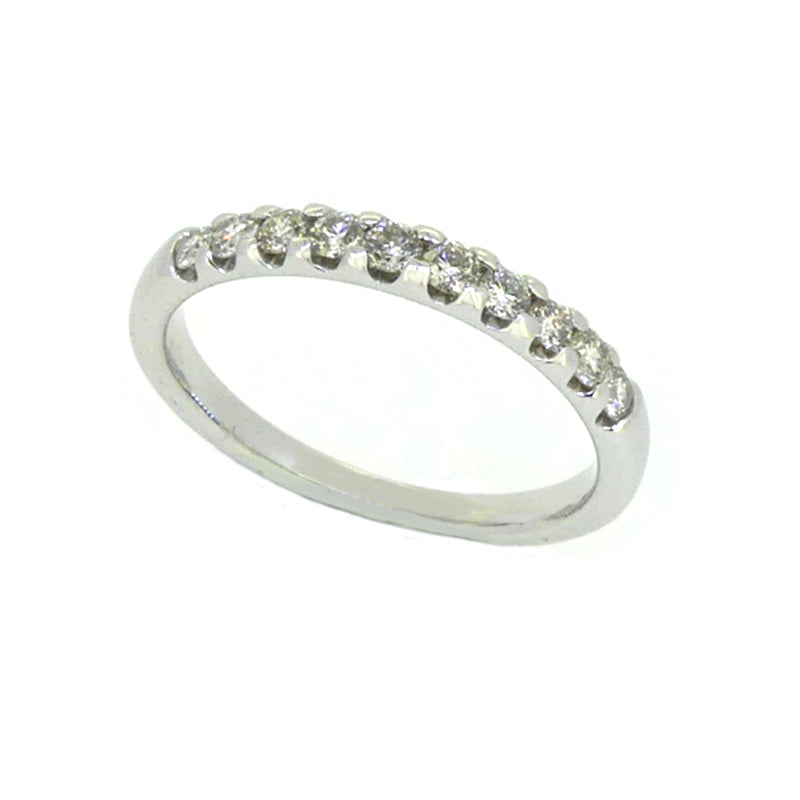 Diamond Eternity Ring 0.25ct Modern Square Claw 9ct White Gold