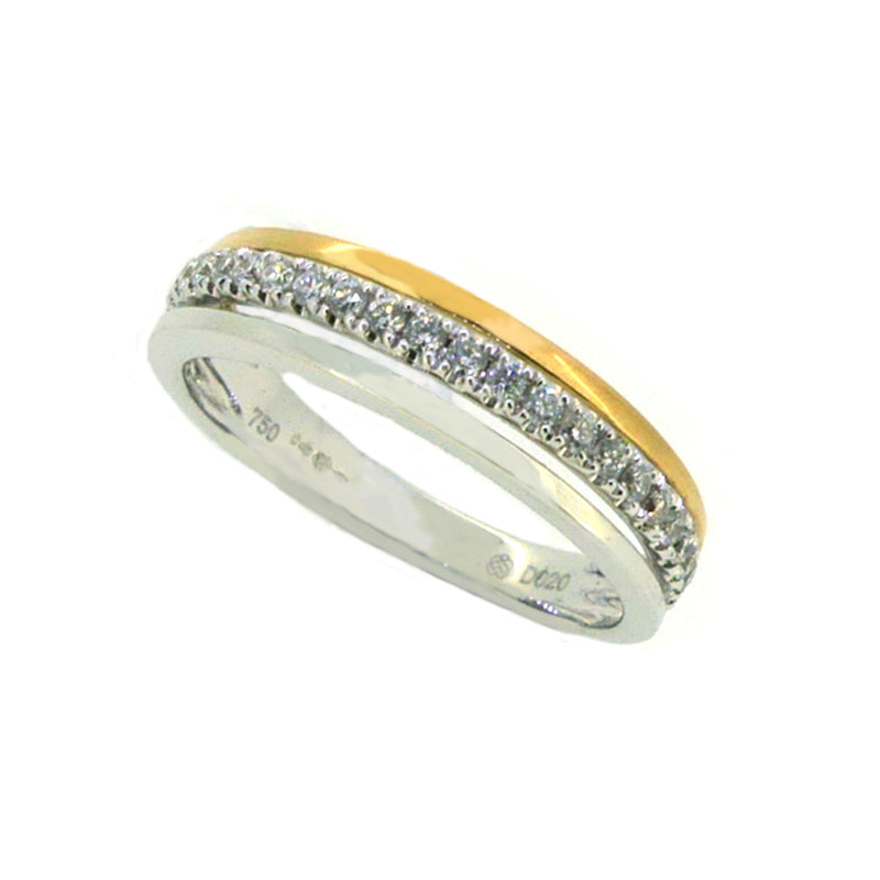 Diamond Eternity Ring 0.20ct 18ct 2 Colour Gold