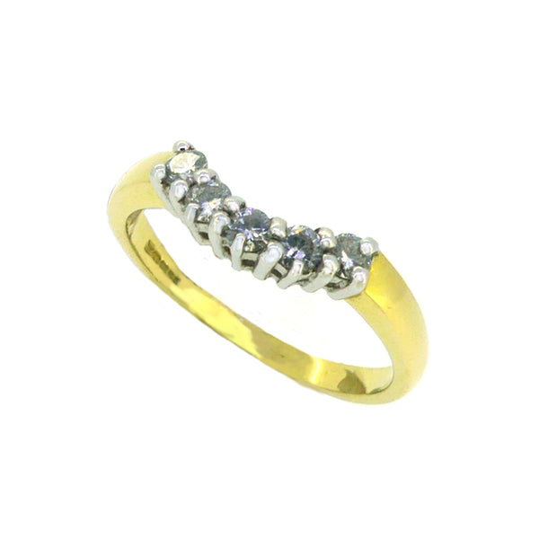 Diamond Shaped Eternity Ring 0.26ct 18ct Gold