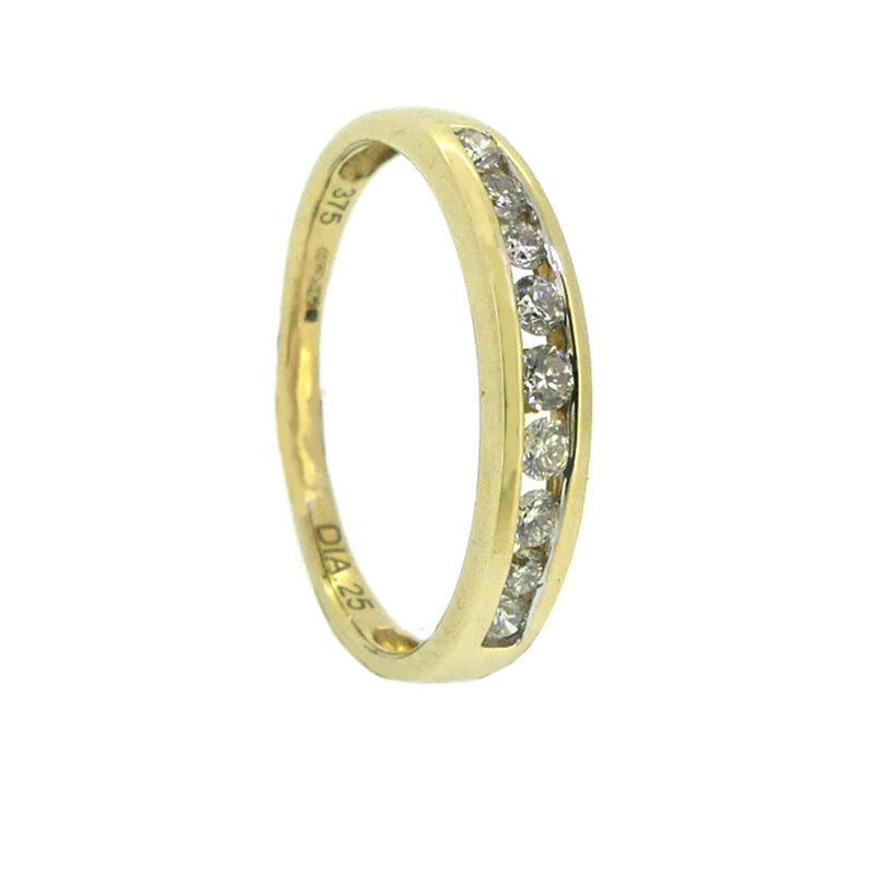 Diamond Eternity Ring 0.25ct Channel Set 9ct Gold