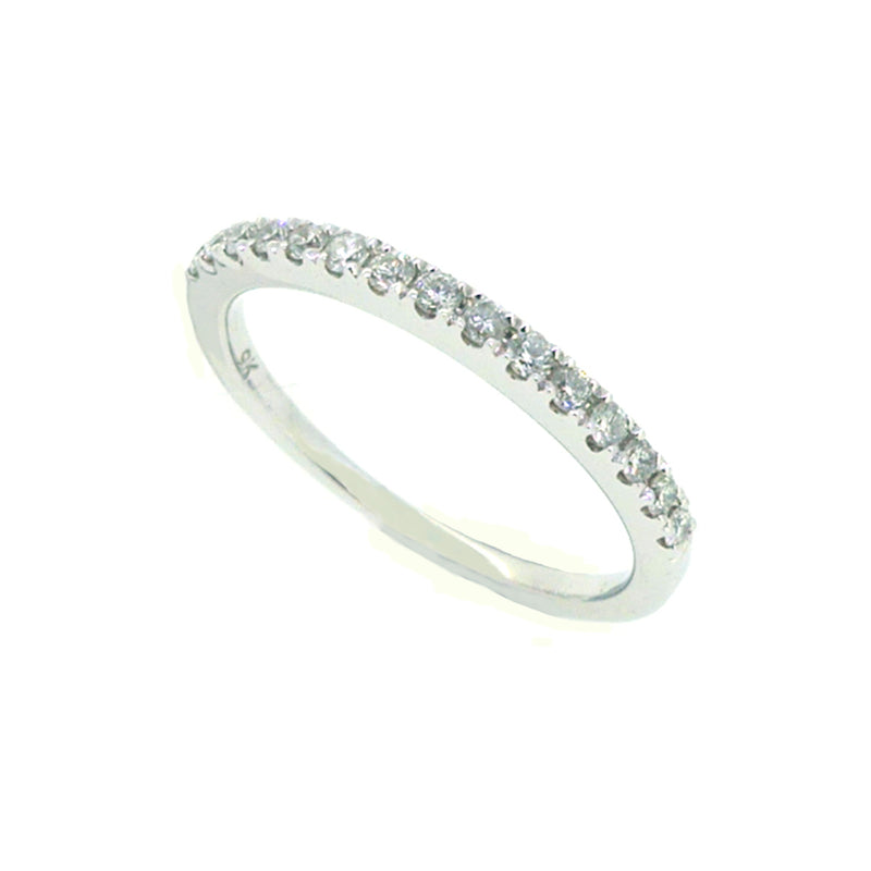 Diamond Eternity Ring 0.10ct Claw Set 9ct White Gold