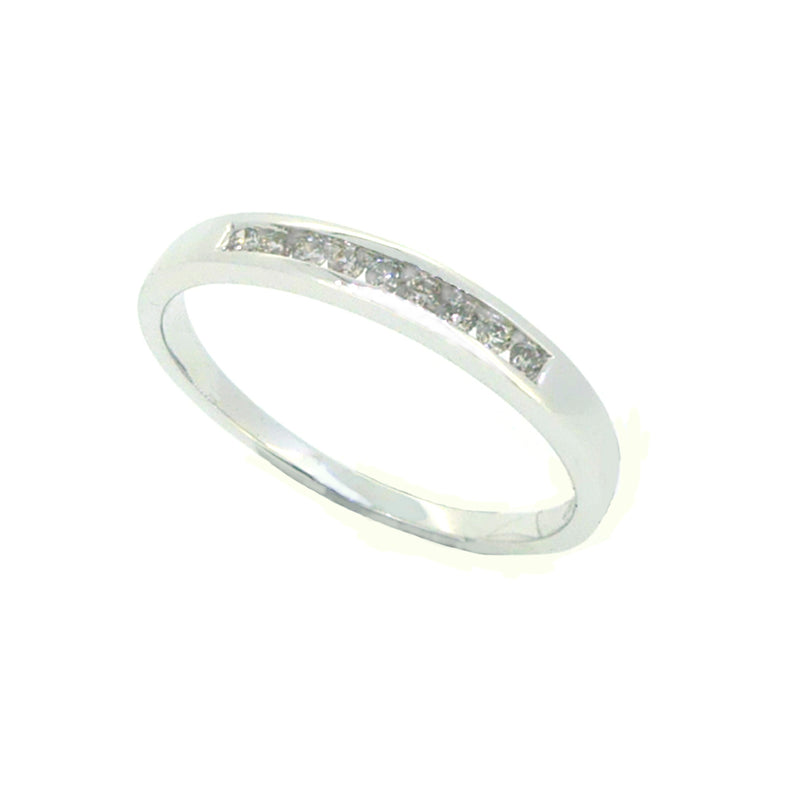 Diamond Eternity Ring 0.10ct Channel Set 9ct White Gold