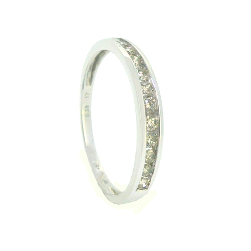 Diamond Eternity Ring 0.25ct Channel Set 9ct White Gold