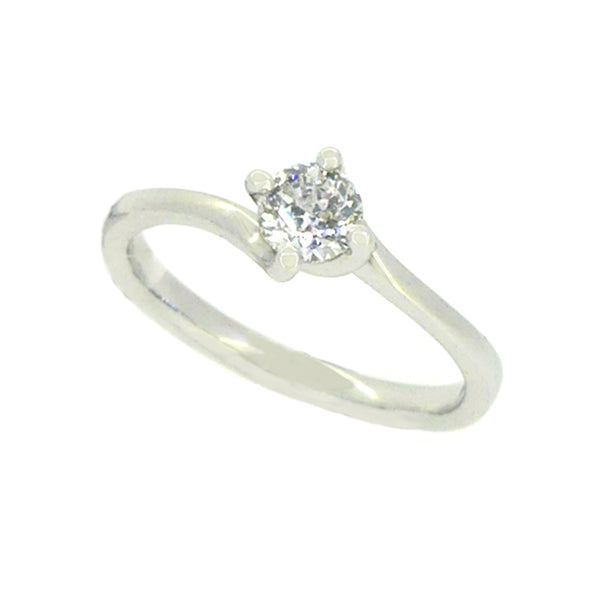 Solitaire Diamond Engagement Ring 0.30ct 9ct White Gold