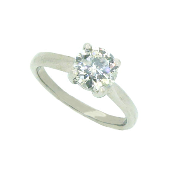 Solitaire Diamond Engagement Ring 1.00ct 18ct White Gold