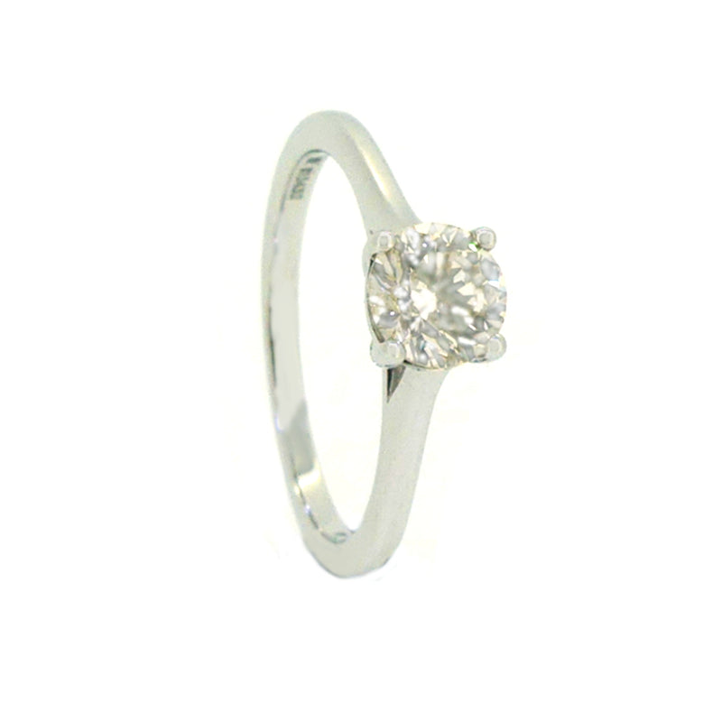 Solitaire Diamond Engagement Ring 0.71ct 9ct White Gold