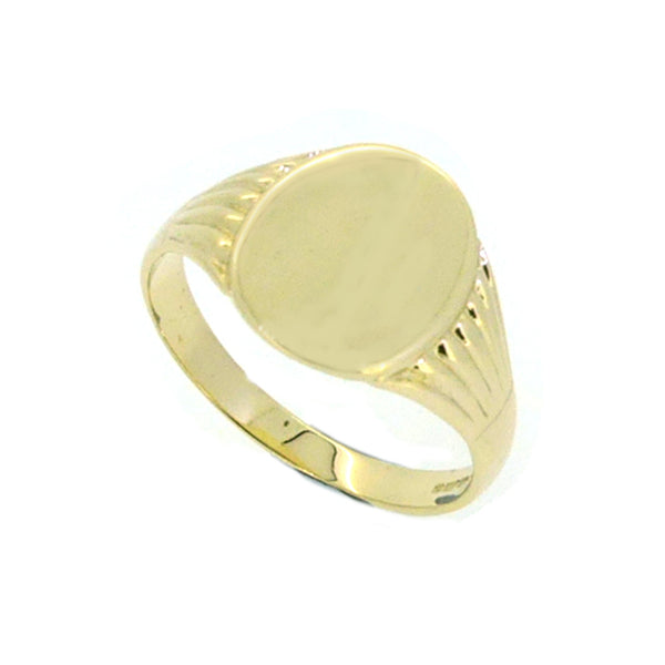 Oval Polished Signet Ring 9ct Gold