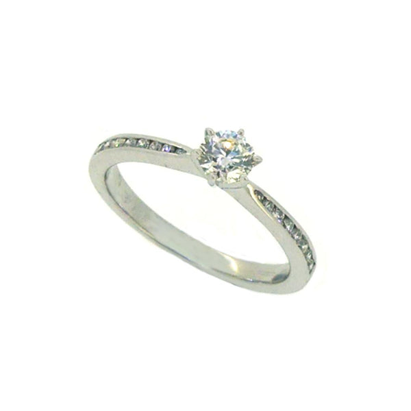 18ct White Gold Solitaire Diamond Engagement Ring 0.30ct